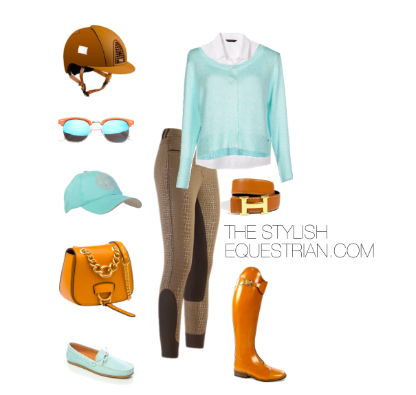 Toffee and turquoise
